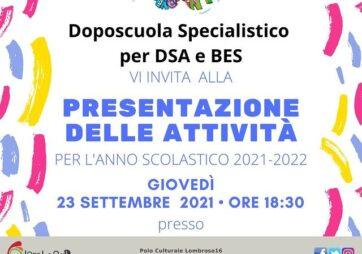 23 Settembre – Presentazione delle attività per l'anno scolastico 2021-2022